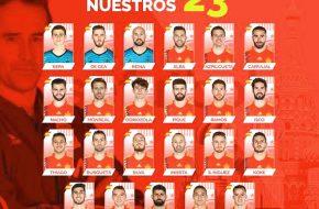 Lista de Convocados de España para la Mundial de Rusia 2018