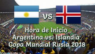 Argentina vs Islandia Hora y tv en vivo Copa Mundial Rusia 2018