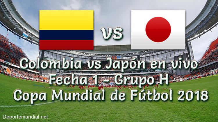 Colombia vs Japón en vivo Copa Mundial Rusia 2018