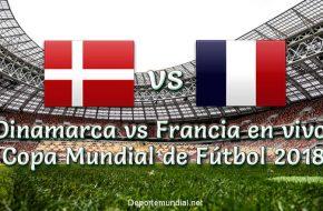 Dinamarca vs Francia en VIVO Copa Mundial 2018