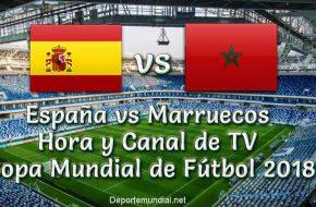 España vs Marruecos Hora y Canal de TV en vivo Copa Mundial Rusia 2018