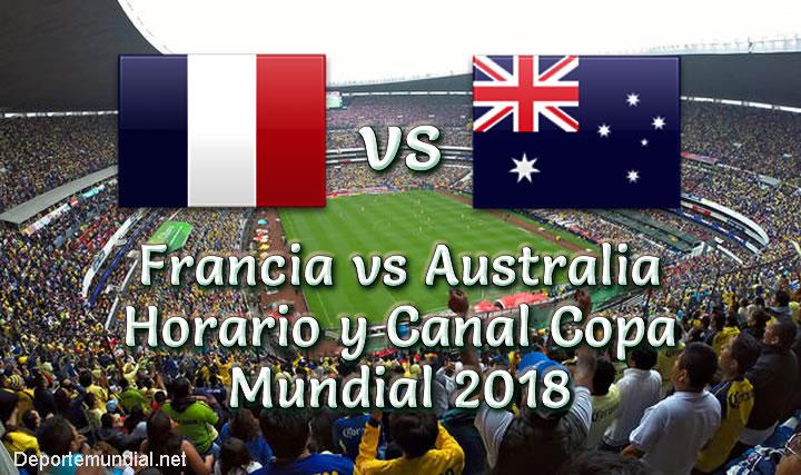 Francia vs Australia Hora y Canal en vivo