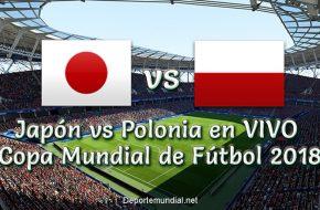 Japón vs Polonia en vivo Copa Mundial Rusia 2018