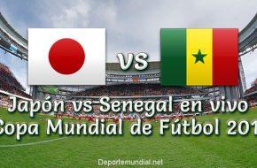 Japón vs Senegal en vivo Copa Mundial Rusia 2018