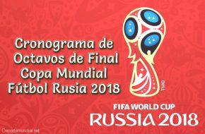 Partidos de Octavos de Final Copa Mundial 2018