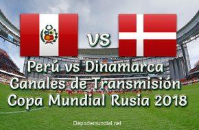 Perú vs Dinamarca Canales de Televisión en vivo Copa Mundial 2018