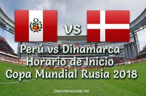 A qué Hora Inicia Perú vs Dinamarca Copa Mundial Rusia 2018 este Sábado 16 Junio 2018