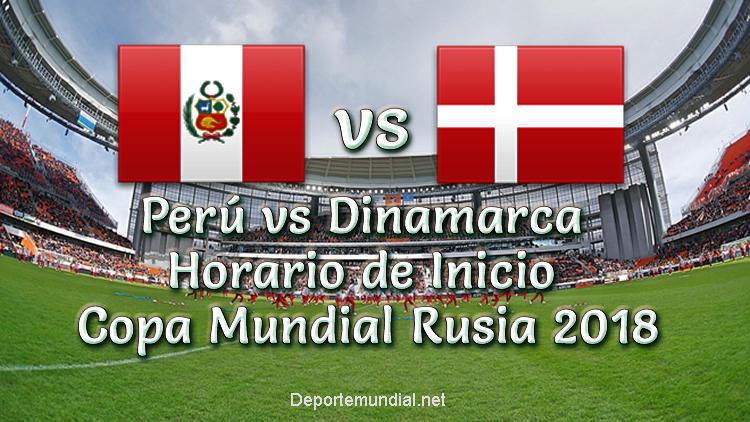 A que hora juega Perú vs Dinamarca Copa Mundial 2018
