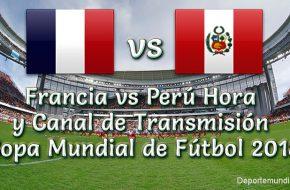 Perú vs Francia Hora y Canal de TV Online Copa Mundial Rusia 2018 este Jueves 21 Junio 2018