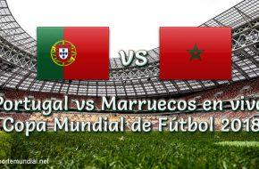 Portugal vs Marruecos en VIVO y Directo Copa Mundial 2018