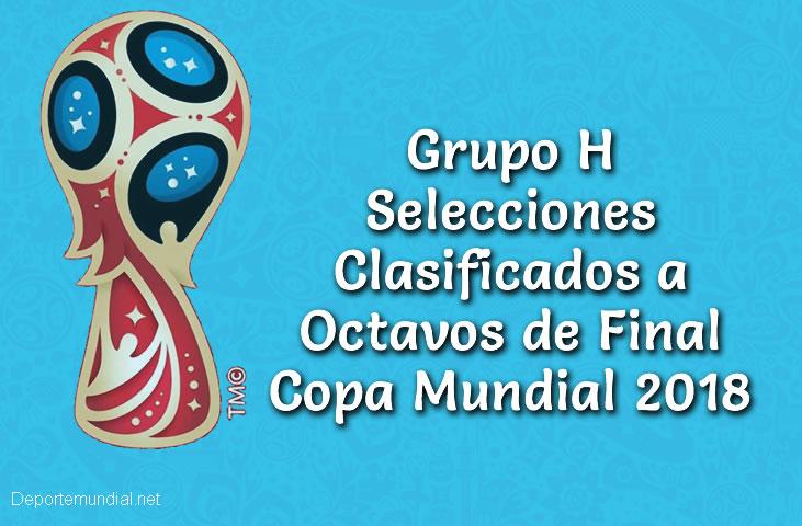 Tabla de Posiciones Grupo H Copa Mundial Rusia 2018