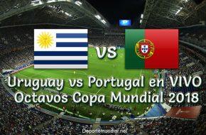 Uruguay vs Portugal en vivo Octavos de Final Copa Mundial 2018