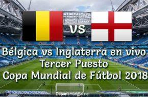 Bélgica vs Inglaterra en vivo Tercer Puesto Copa Mundial 2018