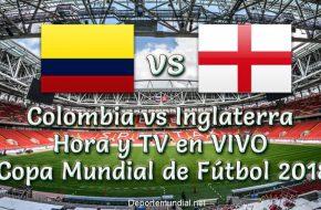 Colombia vs Inglaterra: Hora y TV en vivo Copa Mundial de Rusia 2018 este Martes 03 Julio 2018