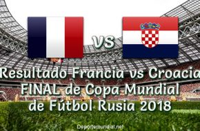 Marcador Francia vs Croacia en vivo Final Copa Mundial Rusia 2018