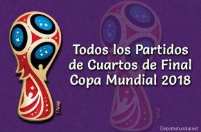 Partidos de Cuartos de Final Copa Mundial Rusia 2018