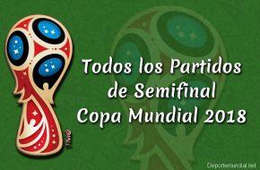Partidos de Semifinal Copa Mundial Rusia 2018