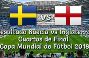 Resultado Suecia vs Inglaterra en VIVO Cuartos de Final Copa Mundial Rusia 2018