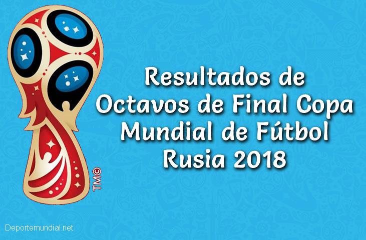 Resultados en vivo Octavos de Final Copa Mundial Rusia 2018