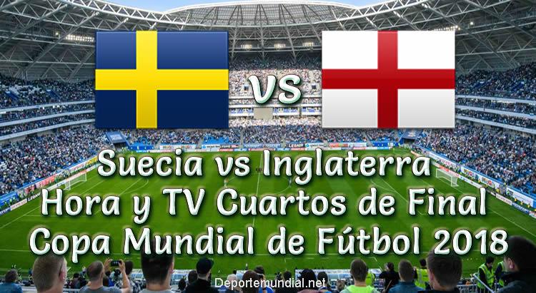 Suecia vs Inglaterra Hora y TV en vivo Cuartos de Final Copa Mundial 2018