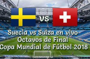 Suecia vs Suiza en VIVO y Directo Octavos de Final Copa Mundial Este 03 de Julio 2018