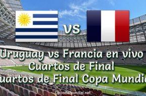 Uruguay vs Francia en vivo Cuartos de Final Copa Mundial 2018