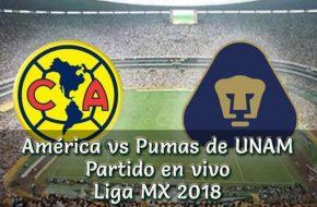 Club América vs Pumas en vivo Liga MX 2018