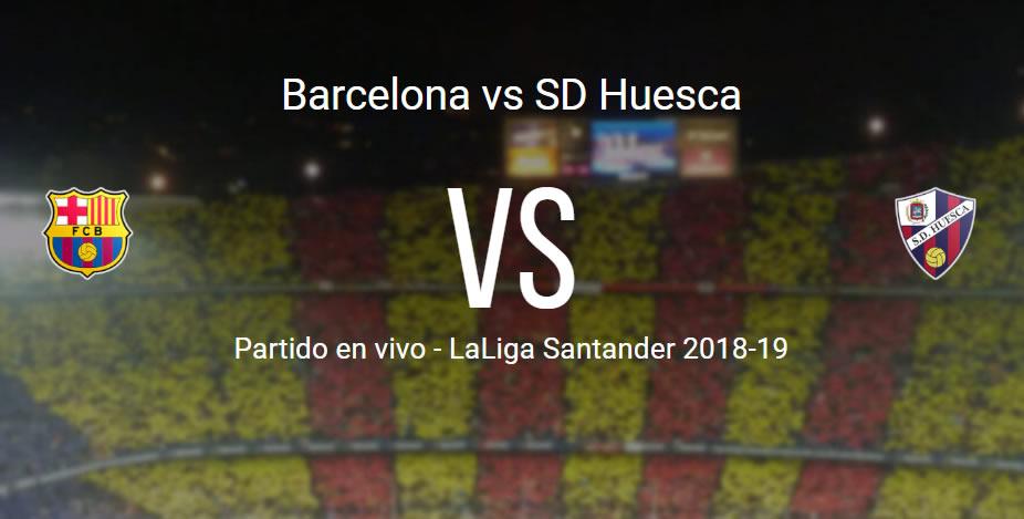 Barcelona vs Huesca en VIVO LaLiga Santander 2018-19