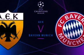 AEK vs Bayern Múnich en vivo Champions League 2018-19