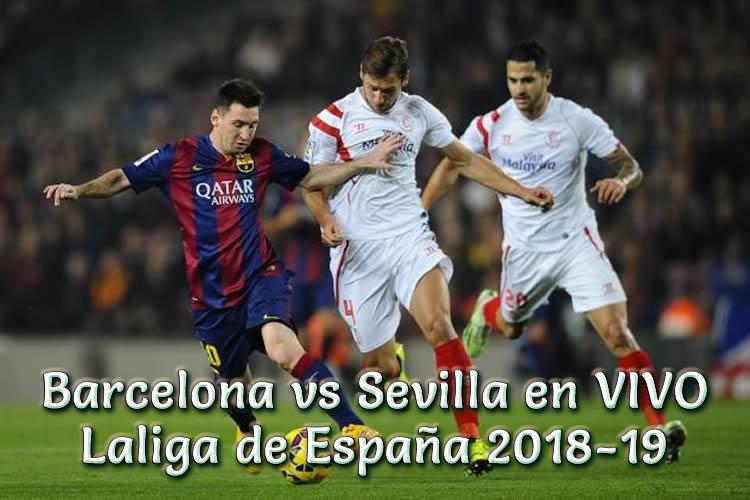 Barcelona vs Sevilla en VIVO Laliga España 2018-19