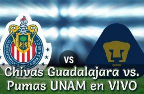 Chivas Guadalajara vs. Pumas UNAM en VIVO Liga MX 2018 este Sábado 6 Octubre 2018