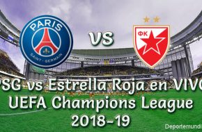 PSG vs Estrella Roja en VIVO UEFA Champions League 2018-19