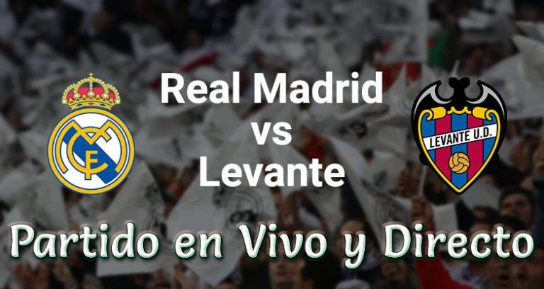 Real Madrid vs Levante en VIVO Laliga España 2018-19 Este sábado 20 Octubre 2018