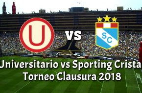 Universitario vs Sporting Cristal en VIVO Online Torneo Clausura 2018