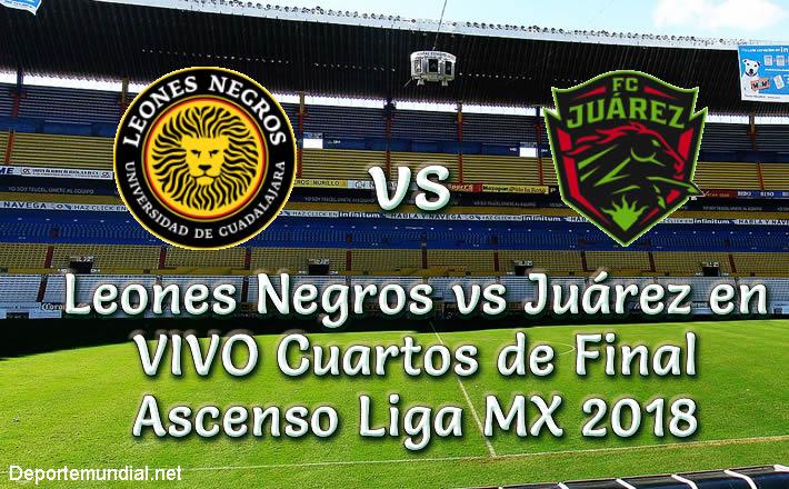 Leones Negros vs Juárez en VIVO Cuartos de Final Ascenso Liga MX 2018