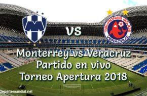 Monterrey vs Veracruz en VIVO Torneo Apertura 2018