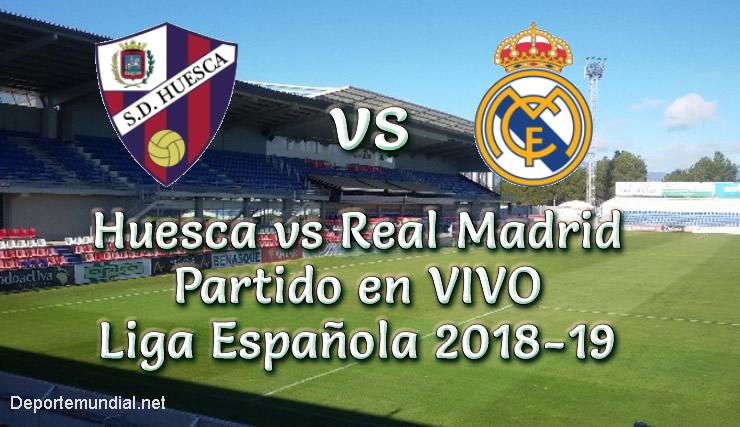 Huesca vs Real Madrid en vivo Liga Española 2018-19