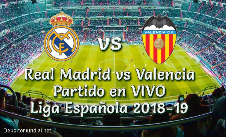 Real Madrid vs Valencia en VIVO Liga Española 2018-19
