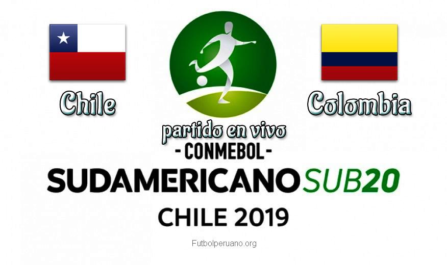 Chile vs Colombia en VIVO y Directo Sudamericano Sub-20