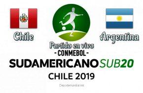 Perú vs Argentina en vivo y Directo Sudamericano Sub-20