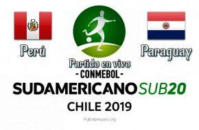 Perú vs Paraguay en VIVO y Directo Sudamericano Sub-20