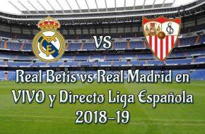 Real Madrid vs Sevilla en VIVO y Directo Liga Española 2018-19