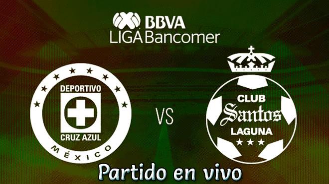 Cruz Azul vs Santos Laguna en VIVO y Directo Torneo Clausura 2019